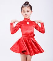 2019 Mädchen kurze Ärmel Standard Latin Dance Kleid Kinder Ballroom Dance Kleider Kinder Salsa Rumba Cha Cha Samba Tango Kleid