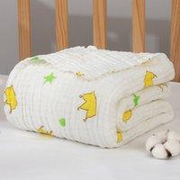 Sechs Schichten Neugeborenen Swaddle Wrap Decke Baumwolle Baby Erhalt Decke Säuglingsschlaf Sleeping Warme Steppdecke Deckung Muslin Babydecke