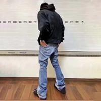 Mens Designer Jeans Galeria Departamento Remake Retro High Street Jeans Moda Marca Clássico Denim Calças Slim Flare