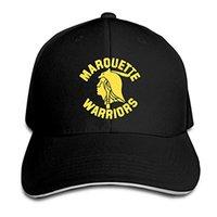 Marquette Warriors Beyzbol Şapkası Ayarlanabilir Çatılı Sandviç Şapka Unisexe Erkekler Kadınlar Beyzbol Spor Dış Mekan Hip-hop Cap