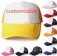 20 couleurs Enfants Trucker Adulte Mesh Casquettes réglable Casquette de baseball Snapback Chapeaux Encaisser Custom Made