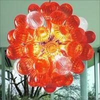 الفرنسية نمط كبير مصابيح الثريا ضوء الديكور الفني chihuly 100٪ جبل في مهب البورسليكات الزجاج الثريات الحديثة