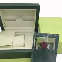 Caixa de relógio do verde do nível superior com a caixa dos relógios de pulso das caixas dos Tag e dos relógios do papel