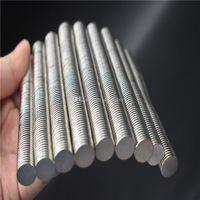 100pcs / lot Hot vente Super Strong Round disque Cylindre 12 x 1.2mm aimants Néodyme Rare Earth Livraison gratuite