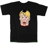 Black Home Alone Face T- shirt Men' s High Quality Custom...