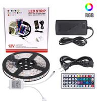 5050 SMD 5M 10M新しいRGB防水IP65 300 LED 600 LEDライトフレキシブルストリップ+ 44キーIRリモートコロラル