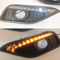 1 Ställ DRL Körning Dagtid Running Light för Honda CRV CR-V 2012 2013 2014 DRL med svängsignal dimma lampa relä dagsljus bil stil