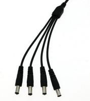 CCTV와 LED 지구를위한 4 명의 남성 DC 힘 쪼개는 도구 접합기 연결 관 케이블 사진기 5.5 * 2.1mm에 1 여성 : 10pcs