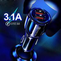 QC3.0 شاحن سيارة سريعة للحصول على الهاتف المحمول المزدوج USB شاحن سيارة الشحن السريع 3.0 الشحن السريع البسيطة محول شاحن سيارة الهاتف USB
