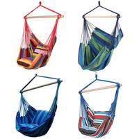 New Hammock Chair Chair Chair Swing Seat con 2 cuscini per adulti Kids Indoor Outdoor Garden