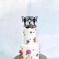 Diğer Festival Parti Malzemeleri TX Altın Ayna Gelin Kek Topper Nişan, Gelin Duş, MR ve Bayan Düğün Eşcinsel Dekorasyon