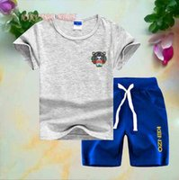 2019 Children Tracksuit Kids Cotton Short- sleeve T- shirt+ Pan...