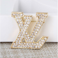 New Luxury Brand Letters Brooch Lot Women Famous Designer Su...
