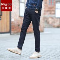 LENSTID 2019 primavera nuovi pantaloni casual da uomo slim fit vintage pantaloni  di alta qualità maschile aa1b2f802fd