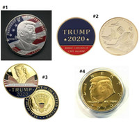 2020 Donald Trump Presidente moneda del dólar de EE.UU. lámina de oro de metal Moneda conmemorativa Crafts América Elección General relieve Crafts de 4 colores E3409