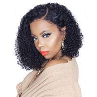 2019 Charmantes perruques BobWave Simulation brésiliennes de cheveux humains brésiliens à perruques ondulées Pour femmes noires en stock