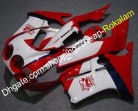 ABS Catériel pour Honda CBR 250 RR CBR250RR MC19 1988 1988 1988 88 89 CBR250 CBR250R 250RR Céséquipe de moto blanc rouge (moulage par injection)