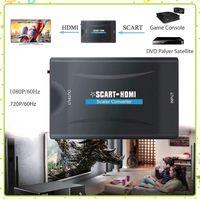 HD Scart Scart Dönüştürücü Ses Video Scart Adaptörü HD TV Sky Kutusu için STB DVD Video Kabloları Konnektörler MQ30