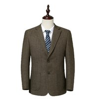 WAEOLSA Men Wool Blazers Woollen Blend Suit Coat Mans Elegan...