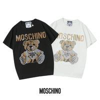 653e2ff9dac Wholesale rhinestones for t shirts online - 19ss fashion t shirt two color  bear CZ printed