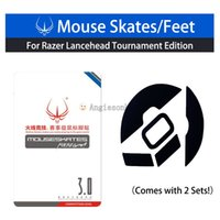 2sets Hotline Games Ratón Pies Patines para Ra.zer Lancehead Tournament Edition / RZ Lancehead Wireless Mouse 0.6mm Teflon 3M