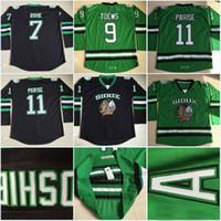 Qualité supérieure ! Enfants Université Dakota du Nord Maillots Sioux 7 TJ Oshie 11 Zach Parise Youth Jersey Blank vert Cousu Hockey Maillots