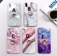 Marble Phone Cases Ring Buckle Bracket For Iphone Xs Max Xr ...