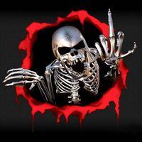 3D autocollant de voiture squelette squelette skeleton crâne trou drôle autocollants cool autocollants autocollants automobiles couvre-moto couvre-moto