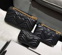 Designer de luxo clássico bolsa de couro de alta qualidade das mulheres Messenger bag moda amor V onda ombro bag cadeia saco