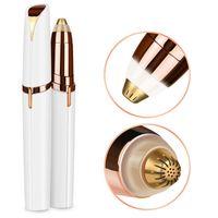 Depilação elétrica sobrancelha Trimmer Maquiagem indolor Eye Brow Depilador Mini Shaver Razors portátil Batom Brows Pen Facial