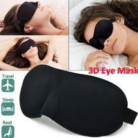 Portable 3D Sommeil Masque pour les yeux Cils confortable mousse mémoire Blindfold Blackout Couverture 10Pcs