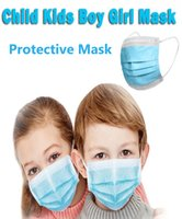 Childrens Disposable Masks 3- Layer Masks with Earloops for S...