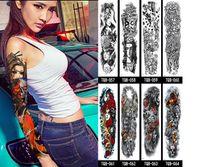 NUEVOS hombres y mujeres 56 estilos Etiqueta engomada completa del tatuaje del brazo Impermeable temporal etiqueta engomada del tatuaje del brazo completo hombres y mujeres