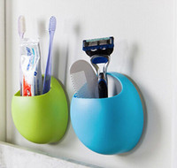 Support de support mural pour brosse à dents Sucker Suction Organizer Cup Rack porte-brosse à dents