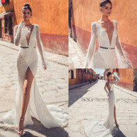 Julie Vino Luxury Mermaid Wedding Dresses 2019 Deep V Neck L...