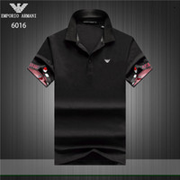 2019 Luxury Designer Cotton Polo Shirts Men High Street Fash...