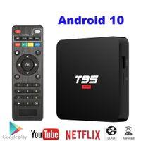 الروبوت 10 مربع التلفزيون T95 سوبر الذكية TVBox Allwinner H3 GPU G31 2GB DDR3 RAM 16GB 2.4G WIFI HD OTT Media Player