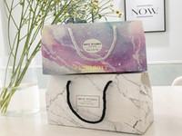 Мраморный дизайн бумаги бумажный торт коробка шоколадное вечеринка печенье коробка подарочная коробка