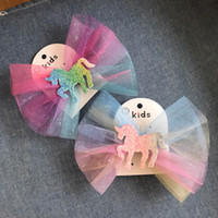 Unicorn rainbow Girls Hair Clips glisten Girl HairClips kids...