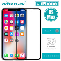 per iPhone XS Max Pellicola proteggi schermo in vetro temperato Nillkin XD CP + MAX Full Coverage Clear Glass Flim per Apple iPhone XS Max