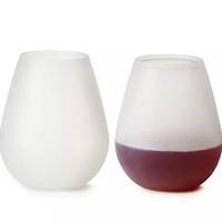 Silikon-Ei-Wein Cups im Freien Fest Schädel Blase Wasserflasche Bier Whisky-Glas Unbreakable Stemless Trinkgefäße Außen Tasse LJJA3333-2