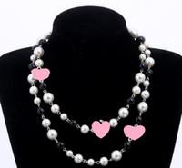 Designer-Frauen arbeiten Halskette-natürliche Perlenkette Mehrschichtige Diamant-Halskette Import Kristall-Strickjacke-Kette Brautschmuck Geschenke Bijoux