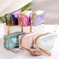 Sacs de maquillage sac cosmétique sac de voyage rose sac de voyage PU sacs lettre hologramme paillettes sacs cosmétiques sacs de maquillage sacs grand capacité stockage imperméable chaud