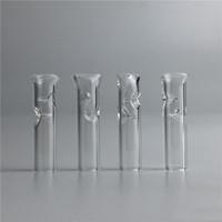 Sicherheit dicke Pyrex-Glas-Raucher-Rohre Mini-Filter-Tipps für trockene Kräuter-Tabak-Rohwalzpapiere mit Tabak-Zigarettenhalter DH0267