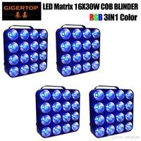 4LOT 16X30W LED Matrix Light DMX Blinder 3in1 LED Stage Light Background RGB Matrix Wiązka Światło 30W