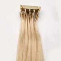 Nuevo producto Micro Loop 6D Extensiones de cabello Cutícula Alineada Virgin Hair Se puede personalizar para Highighlights Conector de cabello Herramientas de salón 14-28 pulgadas