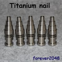 Clous en titane 10/14 / 18mm 6 en 1 titane / clous à quartz hybrides pour bobine Enail de 16 mm, bangs pour plate-formes pétrolières