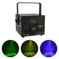 2 Вт RGB Анимация ILDA DMX Master-Slave Лазерный Проектор Свет Home Gig Party DJ Show Сценическое Освещение Звук Авто FB6-2W