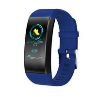 QW18 Smart-Armband Blut-Sauerstoff-Blutdruck-Puls-Monitor-Smart Watch IP67 wasserdichte Fitness Tracker Armbanduhr für iPhone und Android