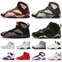 air jordan retro 7 Icicle Patta X yeni 7 jumpman erkekler kadınlar basketbol ayakkabıları klasik saf para tavşan Tavşan raptor fransız mavi Bordo Sıcak Lav spor ayakkabısı 7'ler